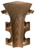 Binnenhoek hoog 6 cm t.b.v. afwerking overzetplinten   stuk