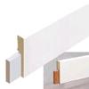 Stijlplint blok Renovatie  18 x 80 mm, wit folie    Staaf 2,4 meter